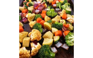 ROASTED VEGGIES USING EVOO & BALSAMIC